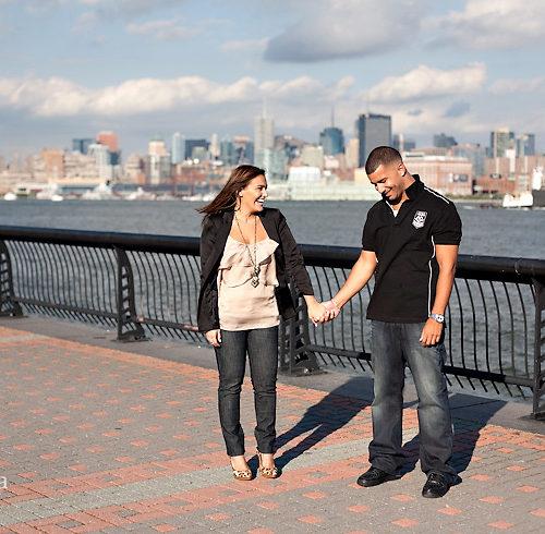 Florencia & Jason's NYC Skyline Engagement Session