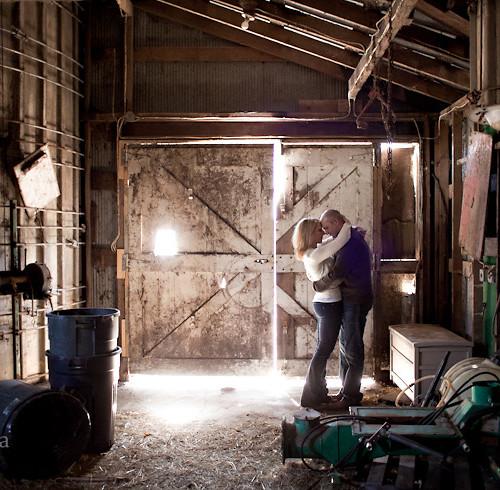 Sarah & Nate's Dairy Farm Engagement Session