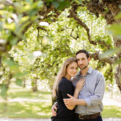 Erika & Liam's Hudson Valley Engagement Session