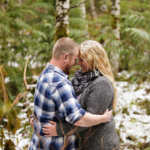 Tasha + Andrew | Mount Baker Engagement Photos