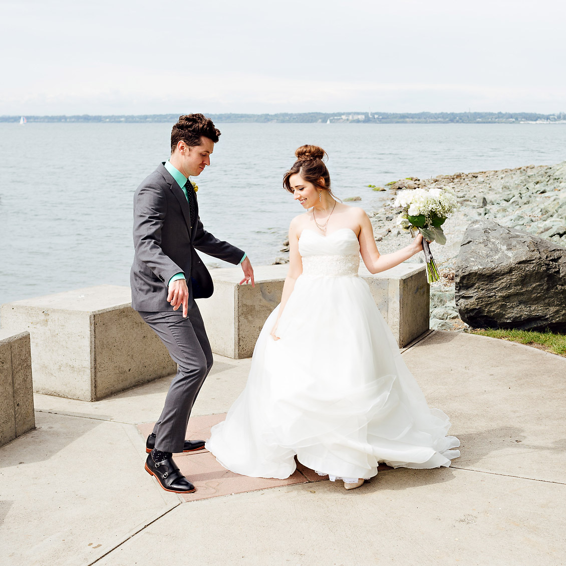 Jenny & Tyler's Bellingham Cruise Terminal Wedding
